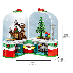 Rotating Christmas Fantasy |  3d puzzle | nano blocks | brickcenter.myshopify.com