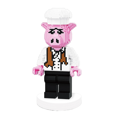 Chef Porky Piggy |  3d puzzle | nano blocks | brickcenter.myshopify.com