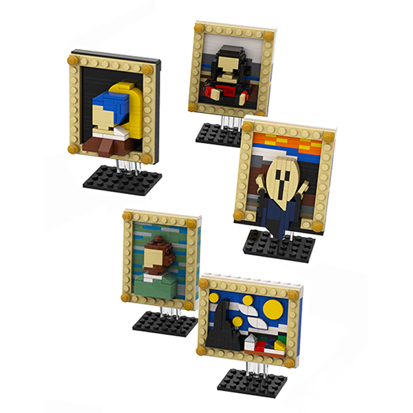 Starry Night Painting |  3d puzzle | nano blocks | brickcenter.myshopify.com