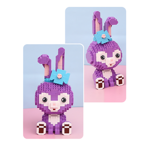 Tiny Purple Bunny |  3d puzzle | nano blocks | brickcenter.myshopify.com