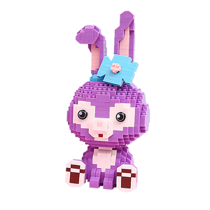 Tiny Purple Bunny |  3d puzzle | nano blocks
