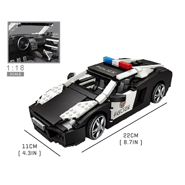 Mini City Police Car |  3d puzzle | nano blocks | brickcenter.myshopify.com