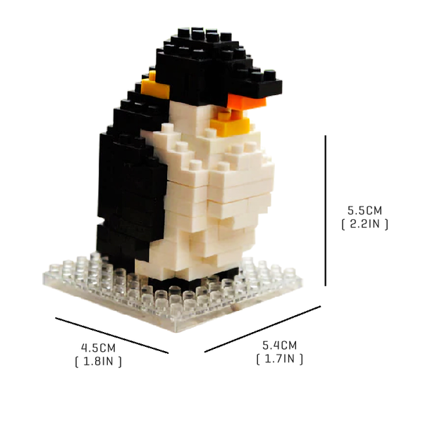 Cute Little Penguin |  3d puzzle | nano blocks | brickcenter.myshopify.com