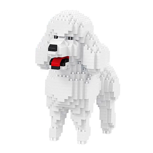 Little White Poodle |  3d puzzle | nano blocks | brickcenter.myshopify.com
