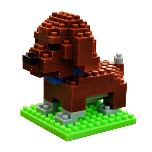 Tiny Choco Poodle |  3d puzzle | nano blocks | brickcenter.myshopify.com