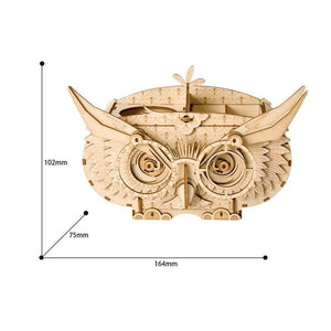 Owl Storage Box 3D Wooden Puzzle