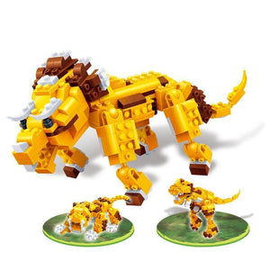 Dinosaurs - The prehistoric lion (328 pcs) |  3d puzzle | nano blocks