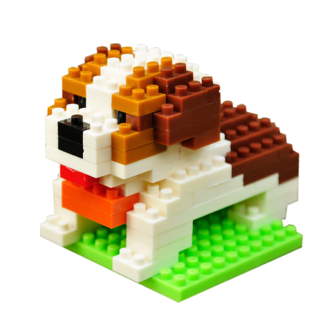 Little Sleepy St. Bernard |  3d puzzle | nano blocks | brickcenter.myshopify.com