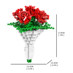 Valentine Rose Bouquet |  3d puzzle | nano blocks | brickcenter.myshopify.com