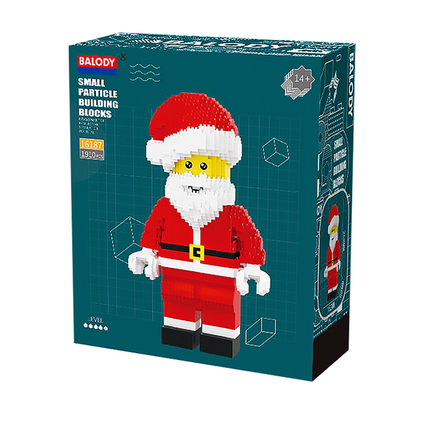 Cool Santa Claus |  3d puzzle | nano blocks | brickcenter.myshopify.com