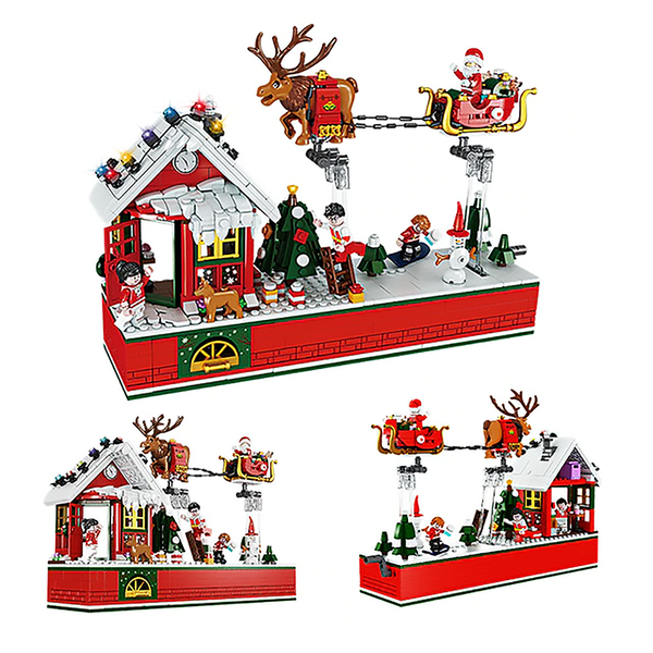 Santa's Christmas Chimney House |  3d puzzle | nano blocks | brickcenter.myshopify.com