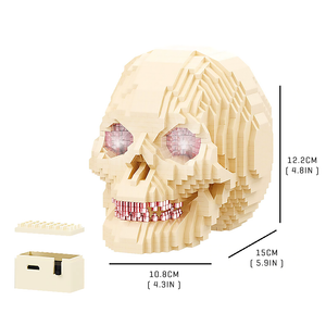 Mysterious Glowing Skull |  3d puzzle | nano blocks | brickcenter.myshopify.com
