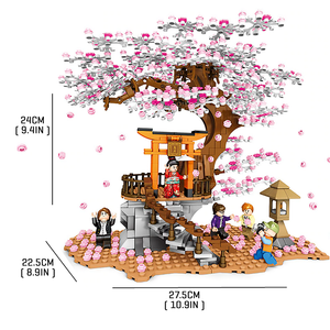 Sakura Tree |  3d puzzle | nano blocks