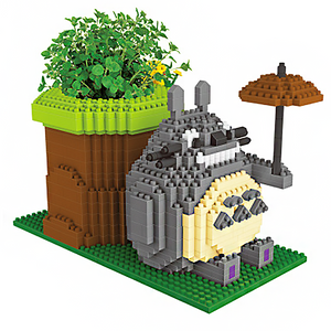 Cute Monster Flower Pot |  3d puzzle | nano blocks | brickcenter.myshopify.com