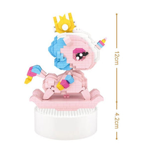 Unicorn Music Box |  3d puzzle | nano blocks | brickcenter.myshopify.com