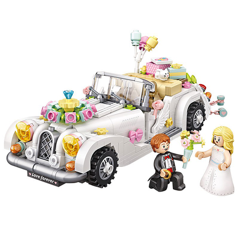Lovers Wedding Car |  3d puzzle | nano blocks | brickcenter.myshopify.com