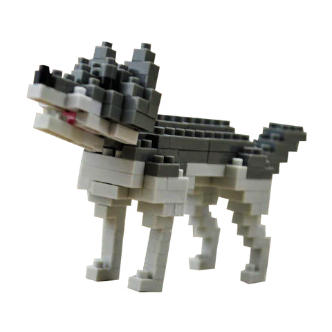 Little Grey Wolf |  3d puzzle | nano blocks | brickcenter.myshopify.com