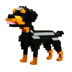 Little Rottweiler |  3d puzzle | nano blocks | brickcenter.myshopify.com