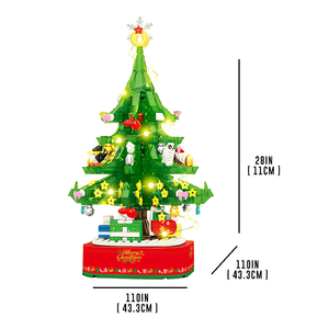 Musical Lighting & Rotating Christmas Tree |  3d puzzle | nano blocks | brickcenter.myshopify.com
