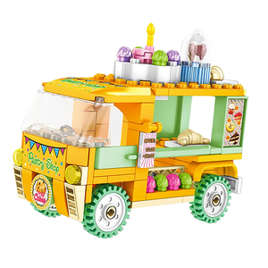 Fluffy Pastry Truck |  3d puzzle | nano blocks