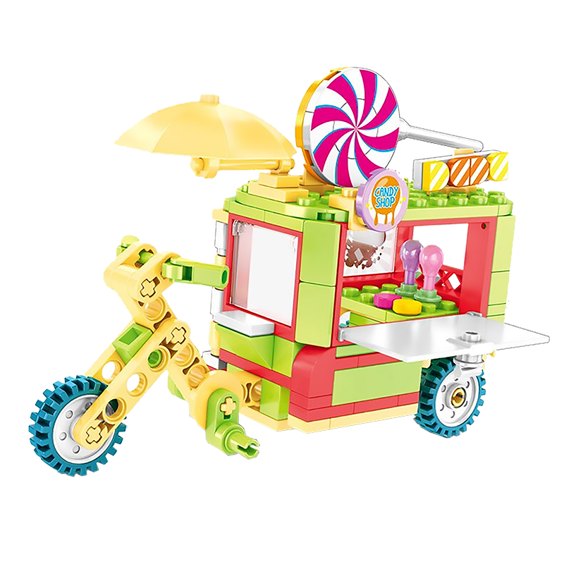 Fun Lollipop Truck |  3d puzzle | nano blocks | brickcenter.myshopify.com