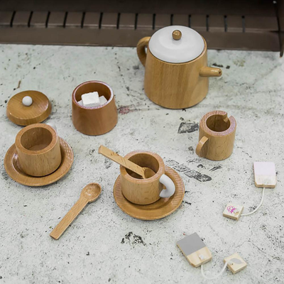 The Power A Wooden Tea Set and Pretend Play Has on Toddlers