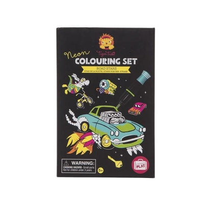 Neon Colouring Set - Road Stars - Little Fenix Australia