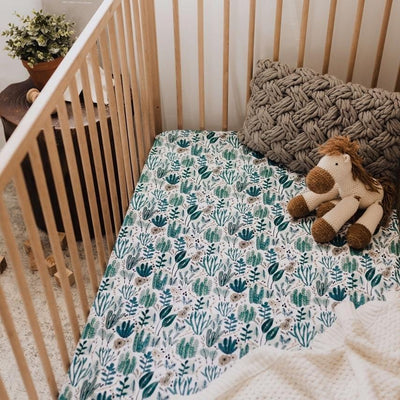 Fitted Cot Sheet - Arizona - Little Fenix Australia
