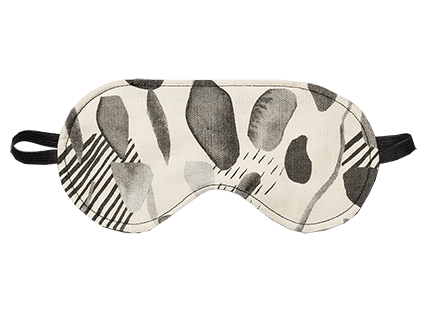 Wheatbags Love Eye Mask Daintree Black
