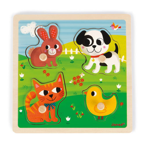 Tactile Puzzle First Animals - Little Fenix Australia