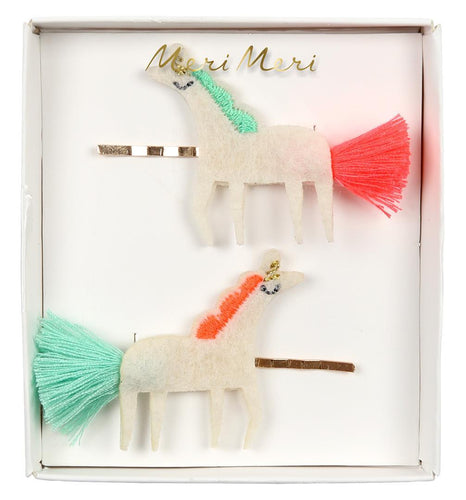 Hair Clips Unicorn Tassle