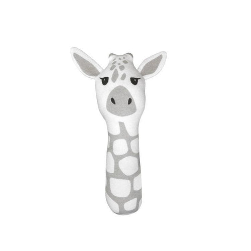 Hand Held Rattle - Giraffe - Little Fenix Australia
