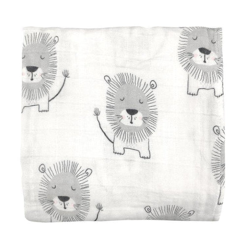 Muslin Wrap - Lion Yardage - Little Fenix Australia