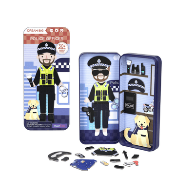 Magnetic Puzzle Box - Police Officer - Little Fenix Australia