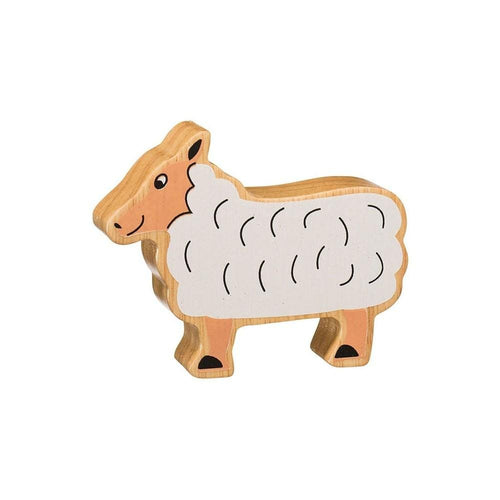 Natural Wooden Animal - White Sheep - Little Fenix Australia