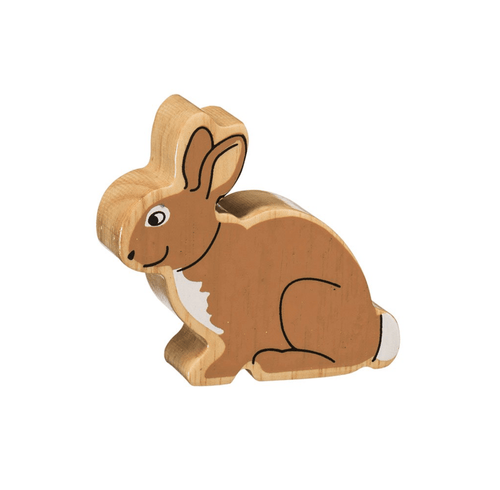 Natural Wooden Animal - Brown Rabbit - Little Fenix Australia