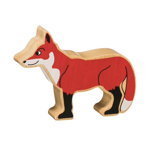 Natural Wooden Animal - Red Fox