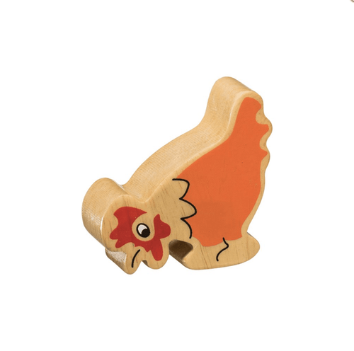 Natural Wooden Animal - Orange Hen - Little Fenix Australia