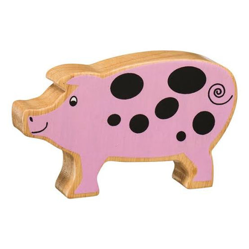 Natural Wooden Animal - Pink Piglet - Little Fenix Australia