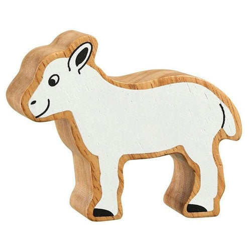 Natural Wooden Animal - White Lamb - Little Fenix Australia