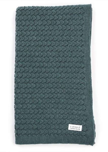Ruby Crochet Textured Stitch Blanket - Duck Egg - Little Fenix Australia