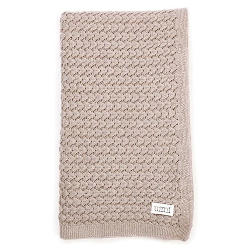 Ruby Crochet Textured Stitch Blanket - Tea - Little Fenix Australia