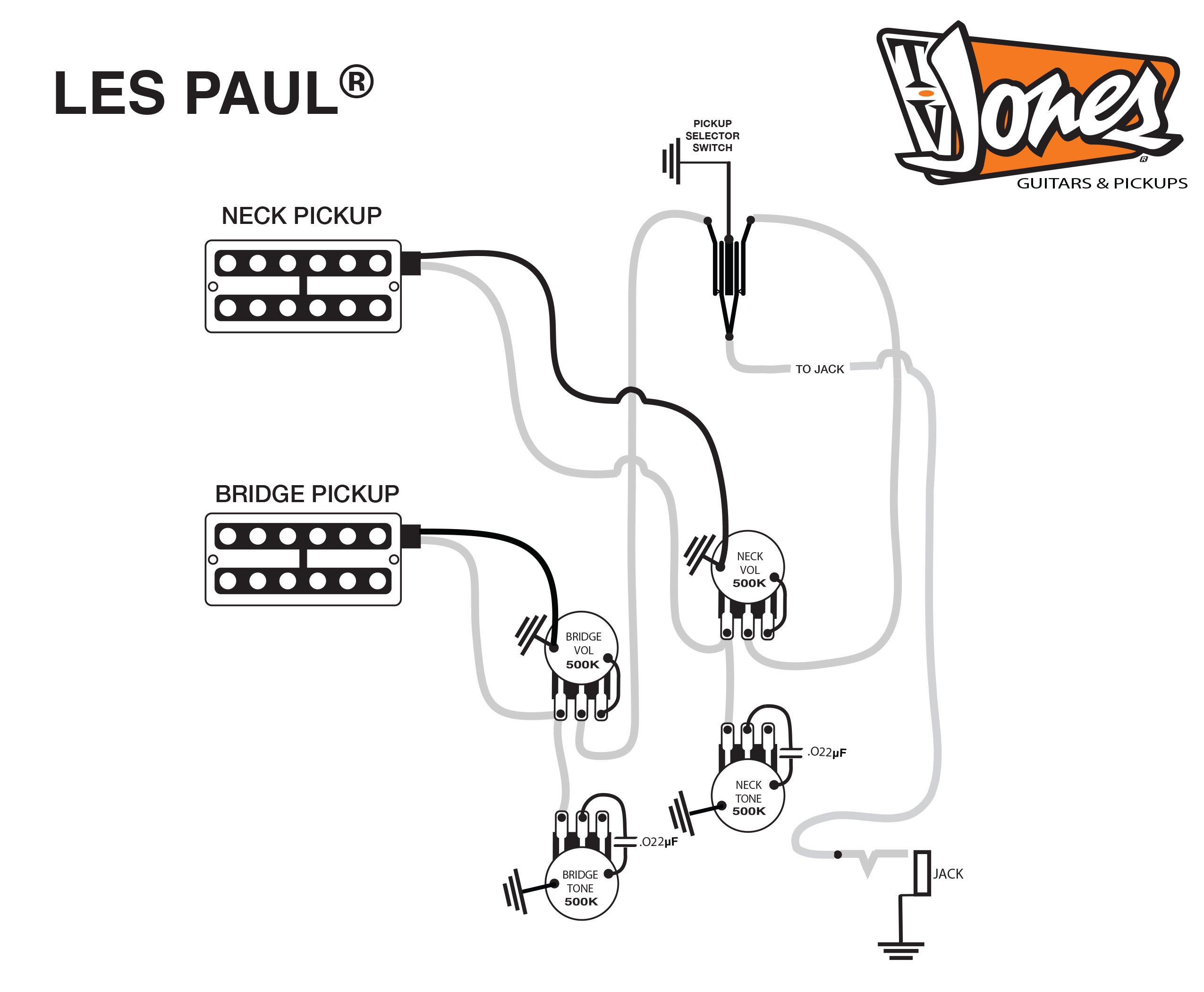 Tv Jones Product Dimensions Gibson Les Paul Standard Wiring Diagram Four Conductor Guitar Schematics
