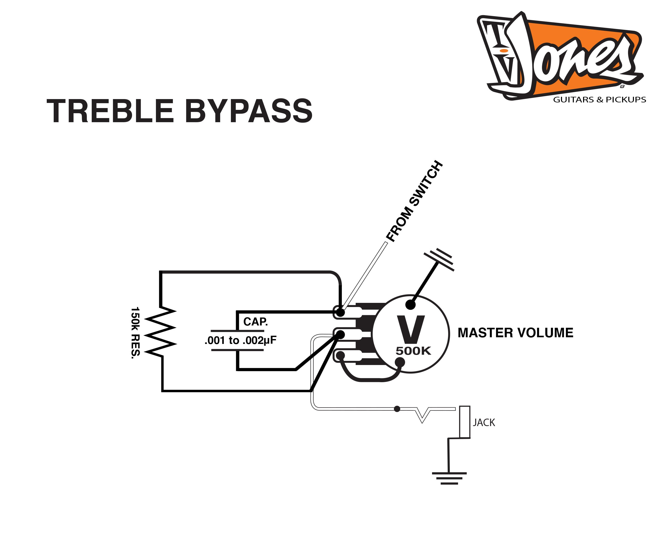 Treble Bleed Kit Tv Jones Inc Guitar Wiring Diagram You Can Find The Here Under Bypass