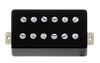 Power'Tron Plus Bridge Humbucker Mount - Black Plastic/Chrome