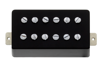 Power'Tron Neck Humbucker Mount - Black Plastic/Chrome