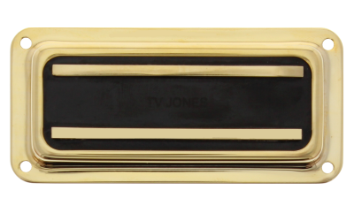TV Jones Supertron Neck DeArmond Mount - Gold