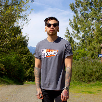TV Jones Orange Logo T-Shirt - Gray