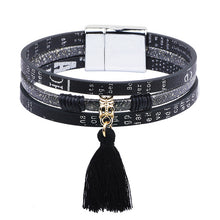 Load image into Gallery viewer, Magnetic Leather Bracelet