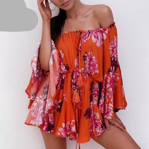 Flare Sleeve Summer Playsuit